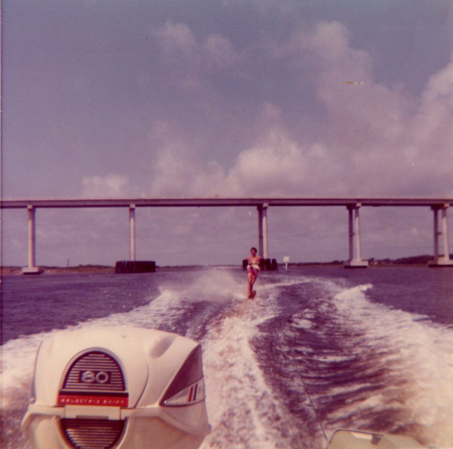Skiing in the Bogue Inter Coastal Waterway - 1971
