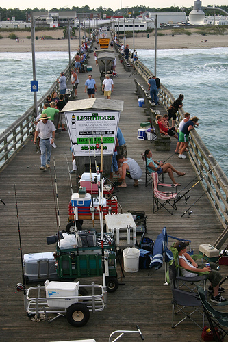 Bogue Inlet Fishing Pier in Emerald Isle