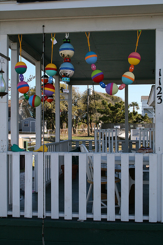 Porch Buoys by Sue in Salter Path